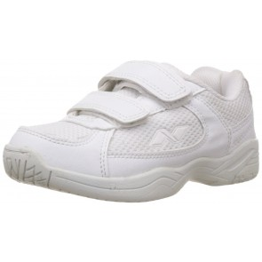 Nivia Unisex Kids White Vinyl School Shoes
