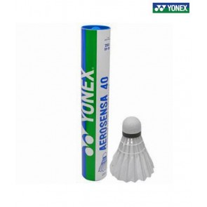 Yonex AS-40 Badminton Shuttle Cock White(Pack Of 12)