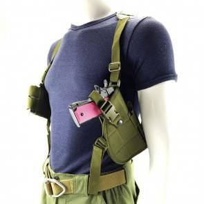 10Dare Shoulder Holster Right & Left Hand for Air Pistols | Ambidextrous | Pistol Pouch & Bags | OG Olive Green [HSN 4202