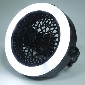 Small Camping Fan &  LED Light | battery Operated Outdoor Ceiling & Table Fan with Lamp | Camping Lights & Accessories [HSN 8539