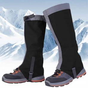 10Dare Gaiters for Snow, Tropical Forests, Outdoors | Water/Snow/Bite Resistant | Black | Outdoor Legs & Boots Protections [HSN 6501