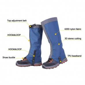 10Dare Gaiters for Snow, Tropical Forests, Outdoors | Water/Snow/Bite Resistant | Blue | Outdoor Legs & Boots Protections [HSN 6501