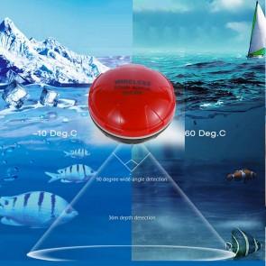 Sonar Wireless Fish Sensor | Floating Fish Finder upto 36M Depth & 100 Feet Distance | Mobile iOS and Android App Receiver  | Fishing Gear & Radar/Sonar [HSN 9507