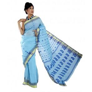 Bengal Tant Sarees | Sky Blue | sri116201o2