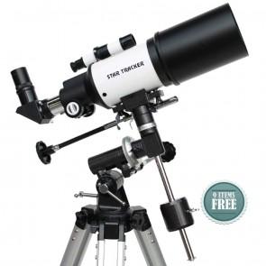 Star Tracker Refractor Telescopes | Star-Gate 80/400 EQ  | Telescope [ 16x to 120x ] [ HSN 90058010