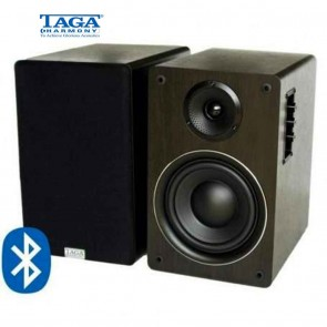 TAGA Harmony TAV-500B Hi-Fi Active Speakers Bluetooth® | Black Wenge or Walnut Finish | High End Powered Speakers  [HSN 85182900