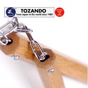 Tozando Akagashi Nunchaku with Metal Chain | Handle 36cm | Red Oak Nunchuck | Hand Made In Japan | Martial Arts Gear [ HSN 95069990