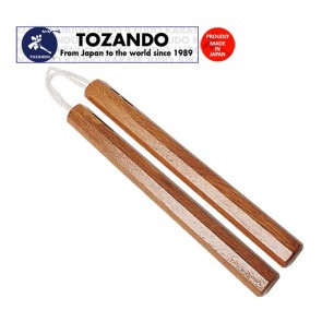 Tozando Akagashi Nunchaku with Cotton Braid | 10kya.com Martial Arts India