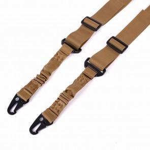 10Dare 2 Point Rifle Sling | Khaki | Nylon Multi-function Adjustable Tactical Rifle Strap | Airgun Slings & Mounts