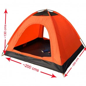 WAJUMO-ATG Auto Pop-Up 4 Tent Orange | 4 Person Waterproof Tent | Camping Automatic Tents [ HSN 63062200