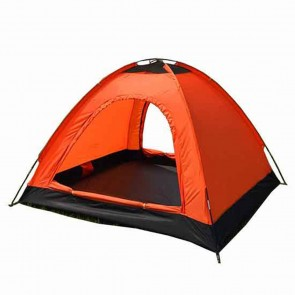 WAJUMO-ATG Auto Pop-Up 4 Tent Orange | 4 Person Waterproof Tent