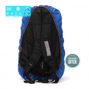 WAJUMO Rain Cover 35-50L Backpacks | Blue Poncho | Rucksack Accessories