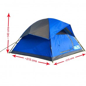 WAJUMO-ATG StarDome 4 Tent Blue | 4 Person Waterproof Tent | Camping Dome Tents [ HSN 63062200