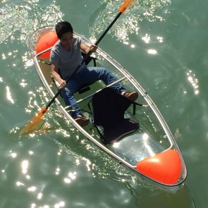 Wajumo-ATG Transparent Kayak | Polycarbonate Boat | 2 Person Kayak with Oars | EGR1411C