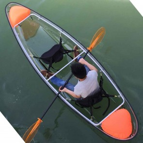Wajumo-ATG Transparent Kayak | Polycarbonate Boat | 2 Person Kayak with Oars