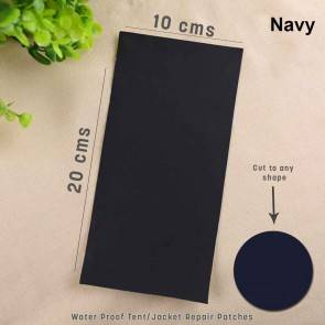 WAJUMO Camping Tent Repair Patch - Navy | 5 Pcs - 20cm X 10 cm | Self Adhesive Nylon Fabric Sticker Cloth Patch | DIY Jacket or Tent Repair