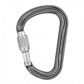 Petzl William-SL Screw-Lock Grey | M36A SL | Carabiner | Climbing & Mountaineering [ HSN 95