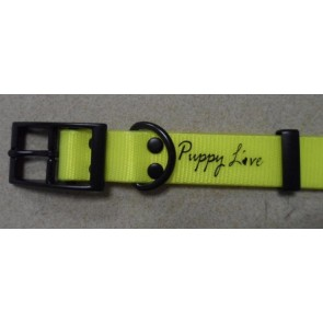 Puppy Love - TPU Coated Nylon Webbing Pet Collars - Yellow - Large