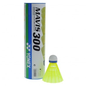Yonex Mavis 300 Shuttlecock Green/Yellow(Pack Of 6)