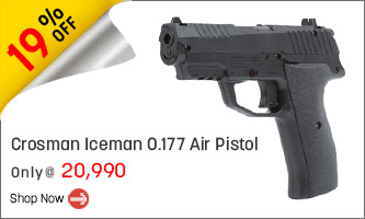 Crosman Iceman 0.177 Air Pistol | FREE CO2 BB & Pellets Pistol Kit