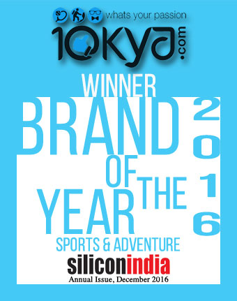 BOTY! Your favourite passion platform 10kya.com is now Brand of the Year 2016 for Adventure & Sports category